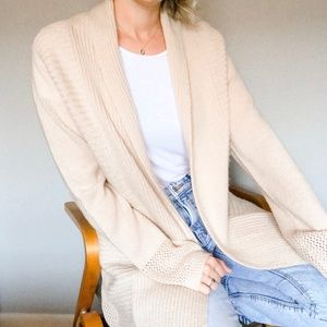 Vintage Pointelle Soft Knit Open Cardigan